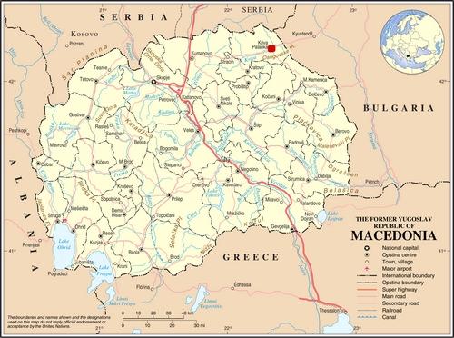 Harta Macedoniei